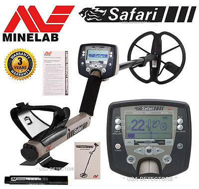 """NEW Minelab SAFARI Metal Detector With 11"""" DD Coil &  LATEST FBS TECHNOLOGY !"""