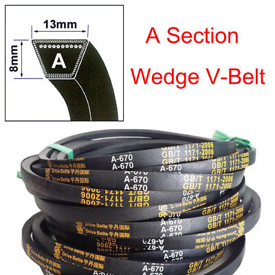 High Quality 8mmx13mm V Belt  A Section Sizes A15~A59 For Industrial LawnMower