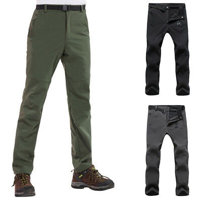 2018 Outdoor Mens Soft shell Camping Tactical Cargo Pants Combat Hiking Trousers