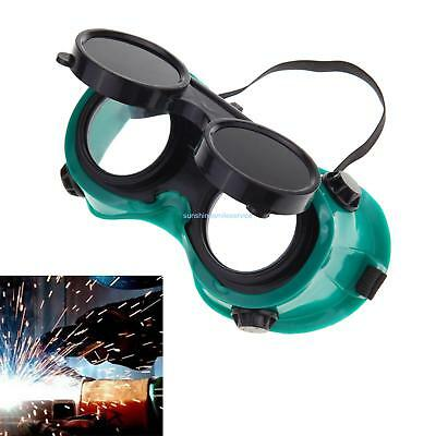 Welding Cutting Welders Safety Goggles Glasses Flip Up Dark Green Lenses Welders