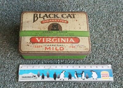 Vintage Tobacco/Cigarette Tin (Black Cat)
