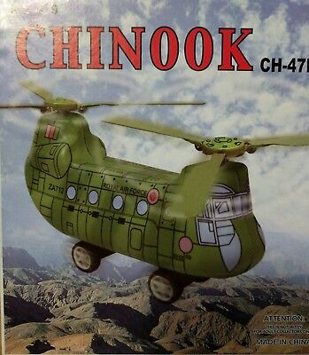 TIN TOY CLASSIC  Royal Air Force Chinook WIND UP CLOCKWORK A COLLECTORS TOY