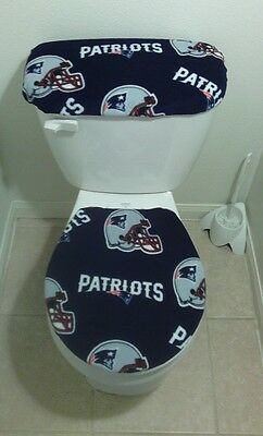 New England Patriots Toilet Seat Cover Set