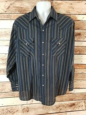 Plains Western Cast Iron Conference Mens Long Sleeve Button Down Shirt Large