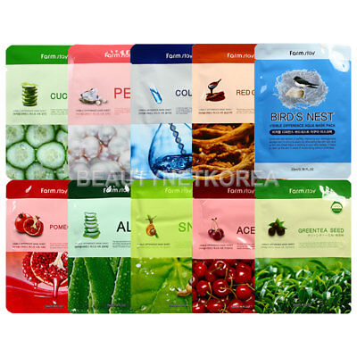 FARM STAY ® Visible Difference Mask Sheet 10 Types 23ml * 2pcs