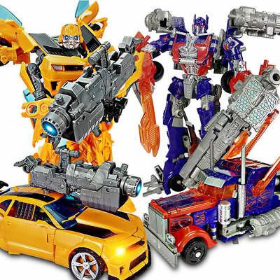Transformers Car Action Figures Toys Grimlock Bumblebee Optimus Prime Gifts AU