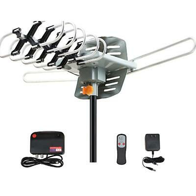 150 Miles TV Antenna Amplified Long Range Outdoor HD Digital 1080P 36dB UHF VHF