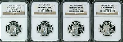 1997-W - 2008-W $50 Platinum Ngc Pf70 Proof Pr70 12-Coin Complete Fractional Set
