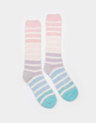 Joules Fab Fluffy Socks in Cream Size 4in8