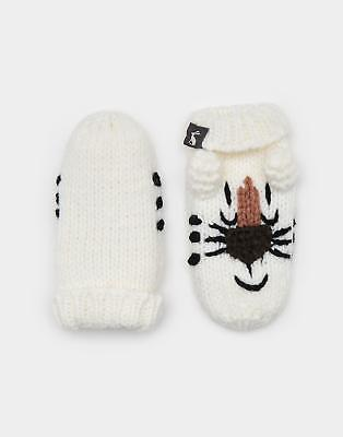 Joules Chum Character Baby Boys Knitted Mittens in 100% Acrylic in Tiger