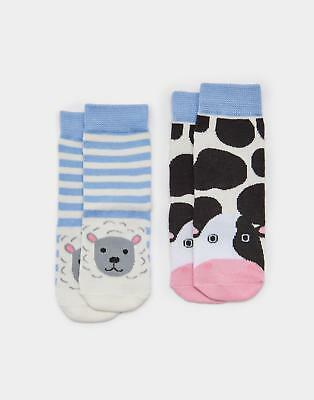 Joules Neat Feet Baby Boys Hypoallergenic Socks in Bamboo Mix in Farm
