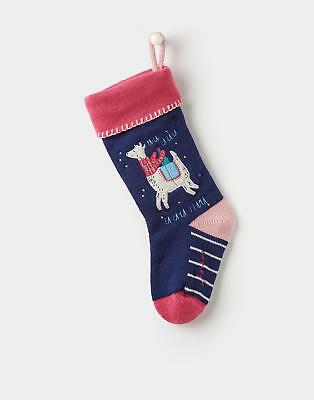 Joules Knitted Christmas Stocking in FRENCH NAVY in One Size