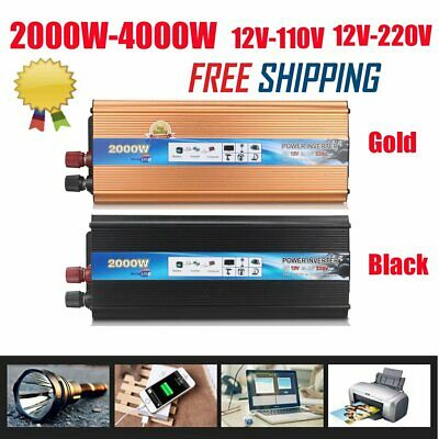 4000 WATT DC 12V AC 110V 220V Car Power Inverter Electronic Charger Converter
