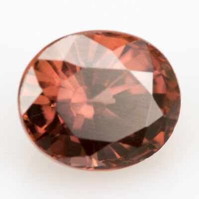 1.29 ct Zircon with an oval cut. A 100% natural gem with a reddish brown color.