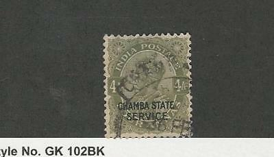 India - Chamba, Postage Stamp, #O32 Thin Used, 1913 Official