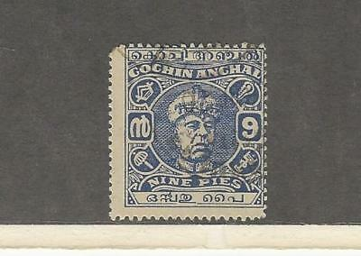 India - Cochin, Postage Stamp, #79 Used, 1946