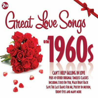 Various Artists - Great Love Songs Of The 1960s - Various Artists CD K6VG The