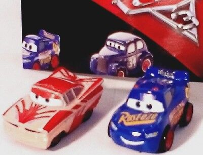 Disney Pixar CARS 3 MINI RACERS X2 FLORIDA RAMONE+THE FABULOUS LIGHTNING McQUEEN