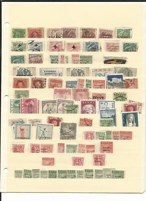 Greece Collection on Stock Page, Back of Book, Overprints, Varieties Lot