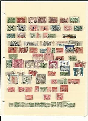 Greece Dealers Stock on 9 Pages, 100's of Stamps, High Cat Value