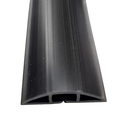 Chargeline® Black Cable Protector/ Floor Cable Cover Tidy. 50cm-9m lengths