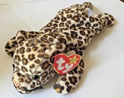 Freckles the Leopard Ty The Beanie Babies Collection DOB June 3, 1996 Retired