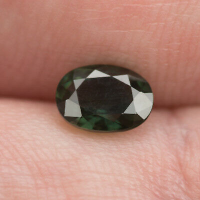 1.16ct Sapphire. Eye clean gem. Green with a touch of blue. Light heating only.