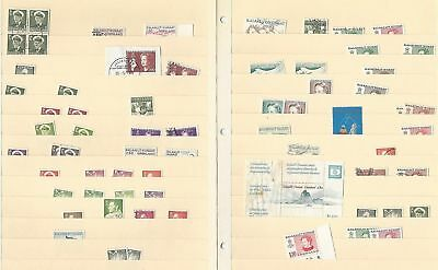 Greenland Lot on 2 Stock Sheets, Nice Selection of Mint & Used Stamps