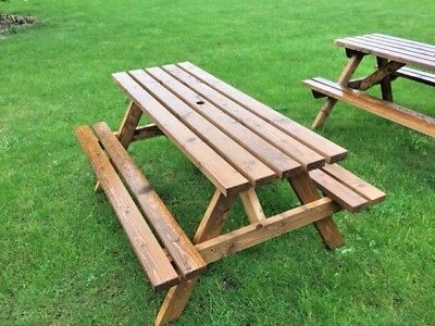 6 Seater picnic table, pub bench, commercial grade amazing value £79