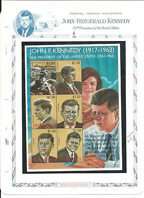 Grenada Collection, John F. Kennedy Mint NH Stamps & Sheets, 10 Pages