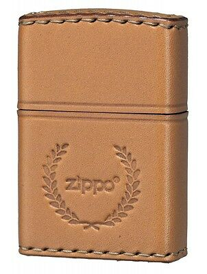 Zippo Lighter REAL LEATHER Hand Crafted Camel LB-7 Japan Model