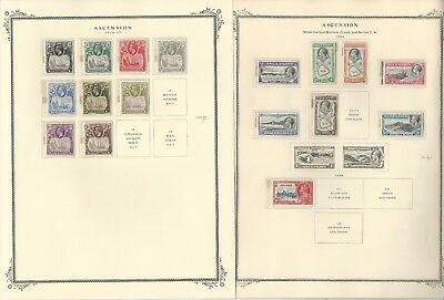 Ascension Collection 1922-1953 on 4 Scott Specialty Pages, All Mint