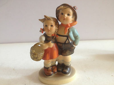 Vintage Hummel Figure Girl & Boy With Basket  No Chips Or Cracks 943/0