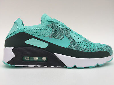 Men's NIKE Air Max 90 Ultra 2.0 Flyknit EVERYDAY Size 8.5-12 Turqoise  875943 301