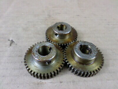 Lot of 3 Boston Gear 2458-41 Steel Spur Gears
