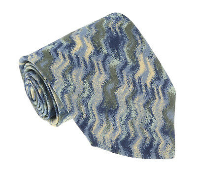 Missoni U5667 Green//Gold Abstract 100/% Silk Tie for mens
