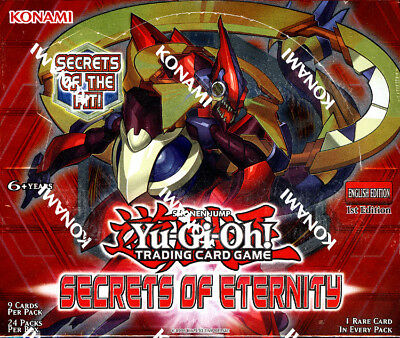 Yugioh Secrets of Eternity 1st Edition FACTORY SEALED Booster Box Free S&H