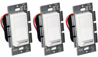 LED Decora Dimmer Switch, Single Switch & 3-Way Dimmer, Dimmable Bulbs, 3 Pack