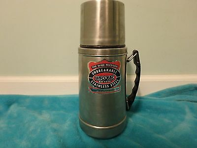 Great Uno-Vac Unbreakable Thermos 32 Oz Stainless Steel Wide Receiver MadeinUSA