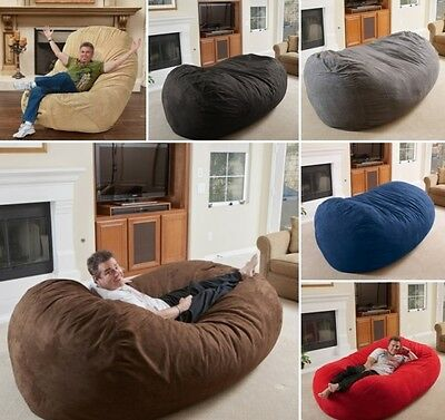 Wondrous 8 Foot Lounger Bean Bag Chair Faux Suede 8 Lounge Beanbags Machost Co Dining Chair Design Ideas Machostcouk