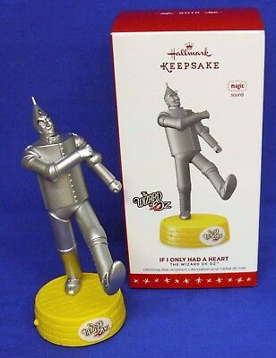 Hallmark Ornament The Wizard of Oz If I Only Had a Heart 2016 Tin Man Sound NIB