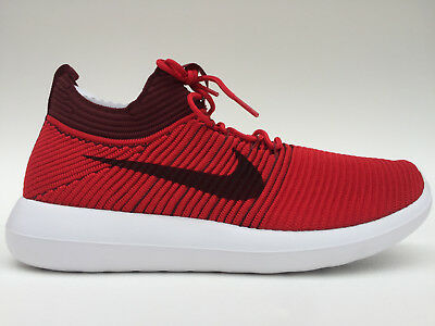 880e22a92ca5 Men s NIKE Roshe Two Flyknit V2 RUNNING Shoes Size 9.5-12 Red (918263 600