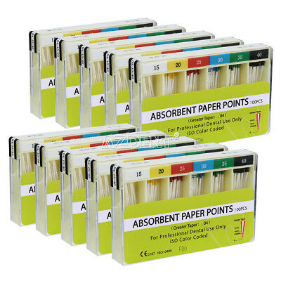 Dental Absorbent Paper Points Taper .04 Root Endodontic Cleaning All Size Choose