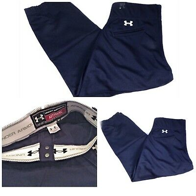 Women's Under Armour Navy Fastpitch Softball Pants Size Small USP513W No Belt
