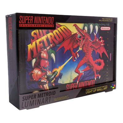 Nintendo - SNES Super Metroid Luminart Light-Up Wall Art - Loot - BRAND NEW