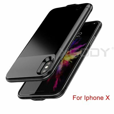 For IPhone X Battery Case 5200mAh Rechargeable Charger Portable Charging Cover