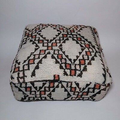 Moroccan vintage berber Beni ourain floor pillow cover moroccco cushion #31
