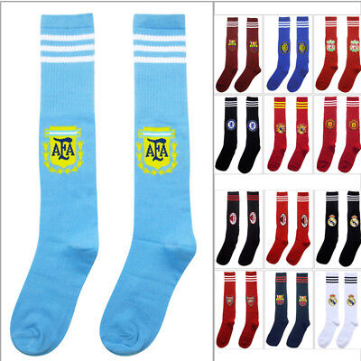 Kids Soccer Socks Boys Girls Long Football Team Sport Club Socks 12 Styles