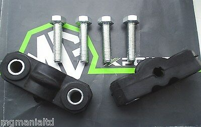MGTF MG TF Exhaust Rubber Hangers Plus Fixing Bolt Kit in Stainless