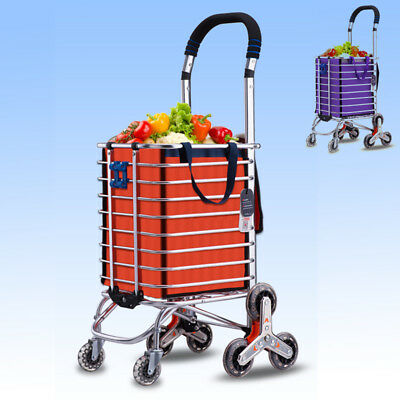 Multipurpose Shopping Luggage Cart Trolley Bag 8 Wheels Stair Climb 2 Colors ZB